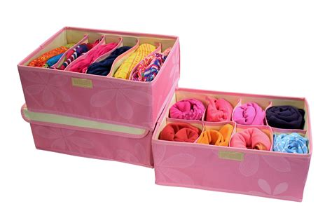 Clothing Drawer Organizers by Media Gallery Clothes Drawer Organizer Set