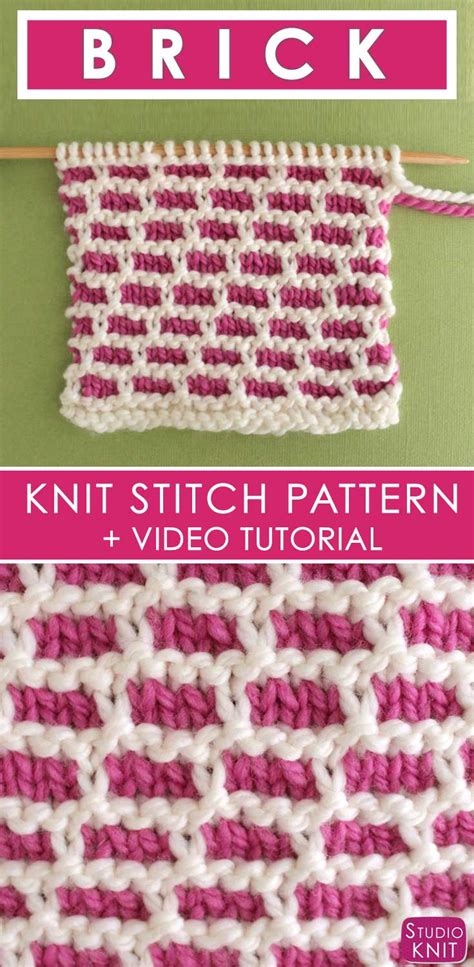 knitting pattern video tutorial how to knit the brick stitch pattern with video tutorial