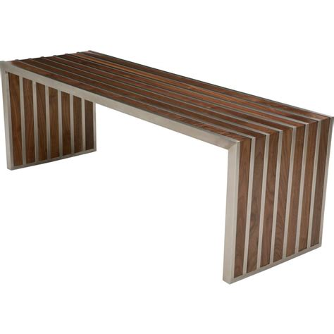 amici bench american amici bench in walnut and stainless steel