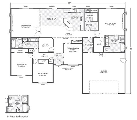 rambler floor plan glenwood home plan true built home pacific northwest