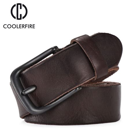 rugged belt rugged grain leather belt casual vintage belts genuine vegetable tanned cowhide