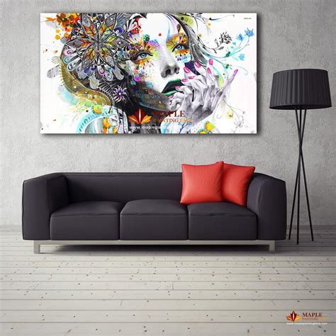 european painting floral modern home wall decor painting 2018 large canvas painting modern wall art girl with