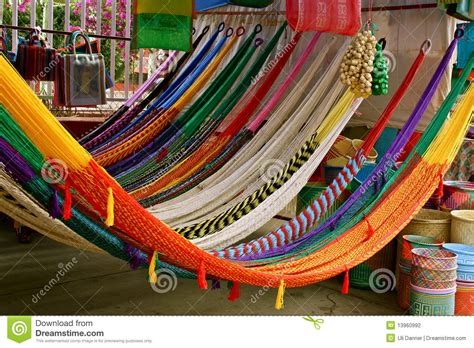 colorful mexican hammocks stock photo image of handicraft