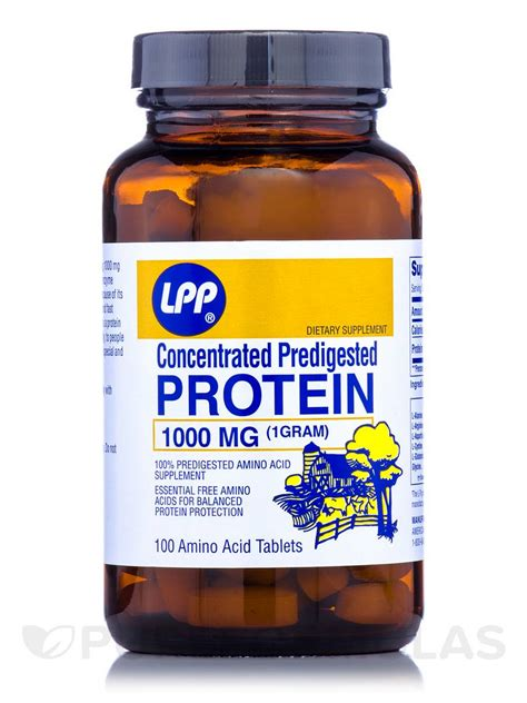 Protein Tablet Lpp Concentrated Predigested Protein 1000mg 100 Tablets