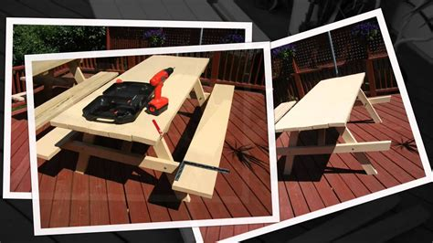 diy build   picnic table kit form part  youtube