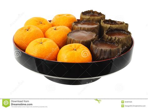 new year oranges supplier mandarin oranges and rice cakes royalty free stock photo