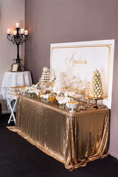 table decoration ideas for parties elegant gold white baptism party baptism party