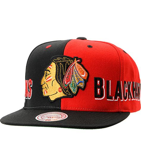 nhl snapback hats c 5 nhl mitchell and ness chicago blackhawks the split