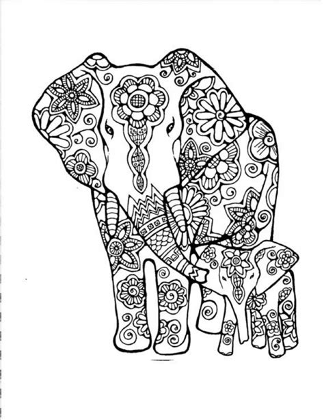 hard coloring pages of elephants get this hard elephant coloring pages for adults 89631