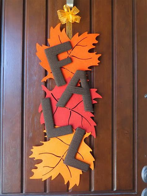 home made fall decorations 30 easy diy thanksgiving door decorations 2017