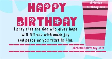 Bible Verses For A Birthday Card Happy Birthday Christian Card With A Bible Verse
