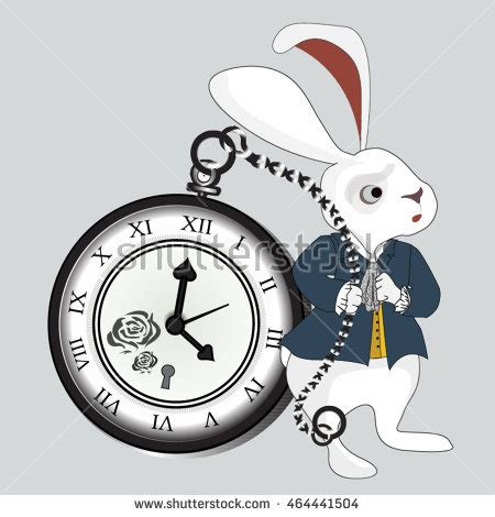 printable white rabbit clock alice in wonderland rabbit clock clipart clipartxtras