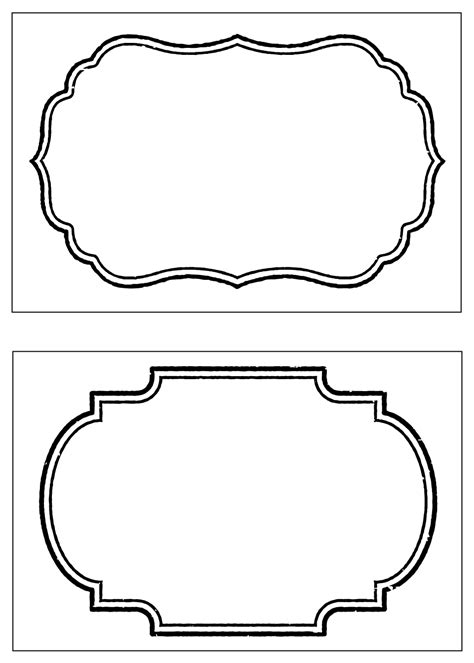 fancy card shape template basics food labels the idea