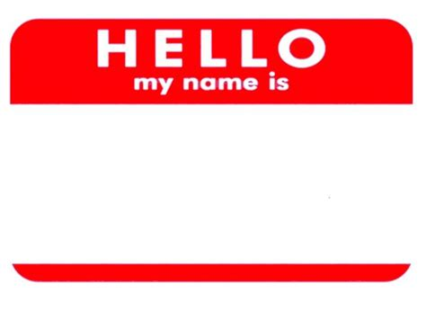 hello my name is template best photos of my name is sticker template hello my name