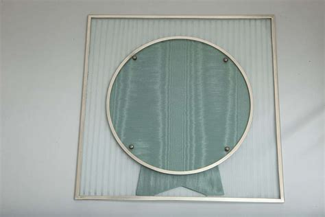 deco sterling silver mounted etched glass picture