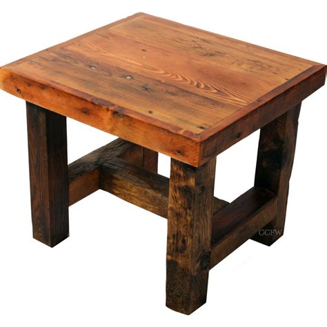Wooden End Tables How To Build Barn Wood End Table Plans Pdf Plans