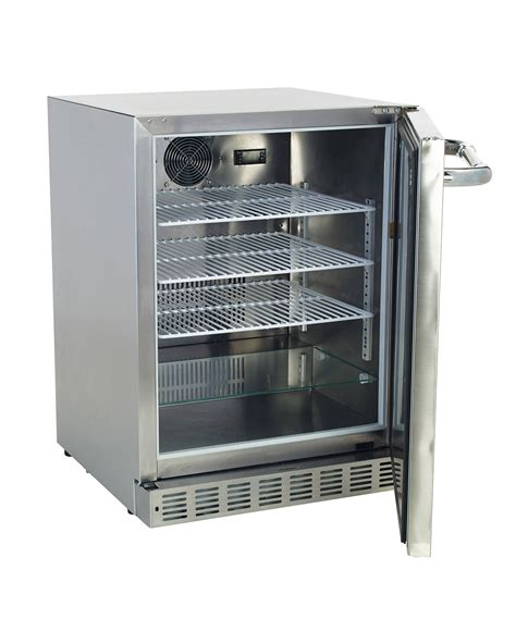stainless steel outdoor kitchen with grill cover compact bull 5 6 cu ft built in freestanding outdoor stainless