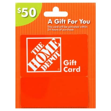 50 home depot gift card