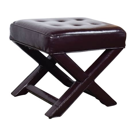 Chairs Ottomans 90 Burgundy Tufted Leather Ottoman Chairs