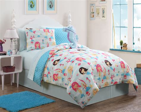 mermaid bedding twin victoria classics mermaid reversible comforter set