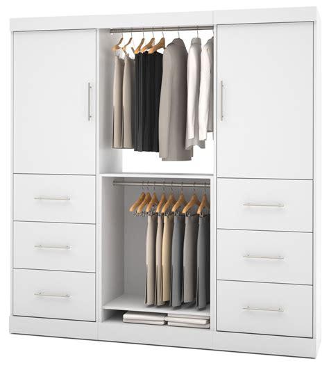 nebula white 80 drawer storage wardrobe from bestar