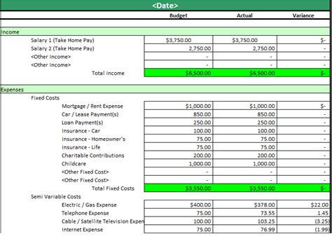 monthly household expenses template best photos of a family budget worksheet family