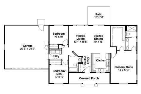 Ranch House Floor Plan by Ranch House Plans Mackay 30 459 Associated Designs