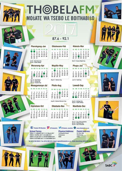 Thobela Fm Calendar | 2017 calendar thobelafm