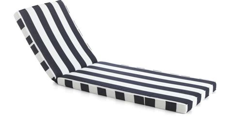 black and white chaise lounge cushions regatta sunbrella 174 chaise lounge cushion crate and barrel