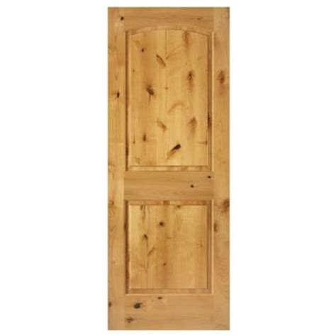 steves sons rustic 2 panel stained knotty alder interior steves sons 32 in x 80 in rustic 2 panel arch solid