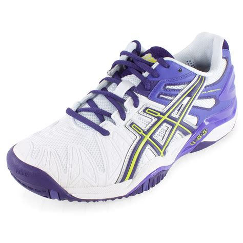 tennis shoes s gel resolution 5 tennis shoes white and purple