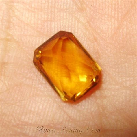 Gelang Friend Orange batu orange citrine 2 59 carat rectangular cut