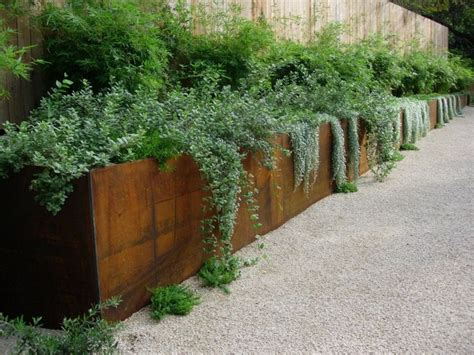 Corten Planter by Fence Planters On Fence Planters And Gardens