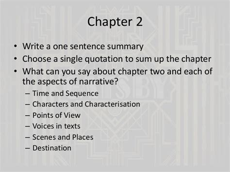 one sentence theme of the great gatsby the great gatsby chapters 2 and 3