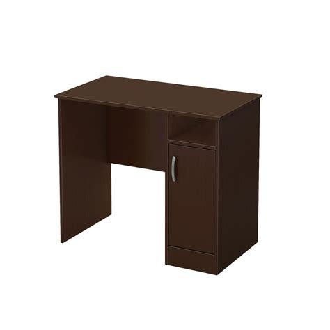 Office Depot Small Desk South Shore Furniture Desks Freeport Small Work Desk In Chocolate 7259075 Shopyourway