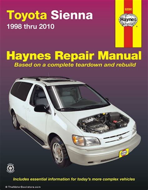 car engine manuals 2009 toyota sienna electronic toll collection toyota sienna repair manual 1998 2010 haynes