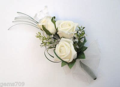 Wedding Corsages by Wedding Flowers Ivory Corsage