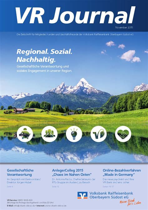 vr bank obb so eg vr journal 3 2015 by volksbank raiffeisenbank oberbayern