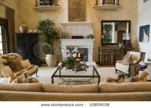 Upscale Home Decor by Luxury Home Living Room With Contemporary Decor Stock