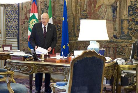 ufficio presidente della repubblica l ex presidente della repubblica giorgio napolitano nel
