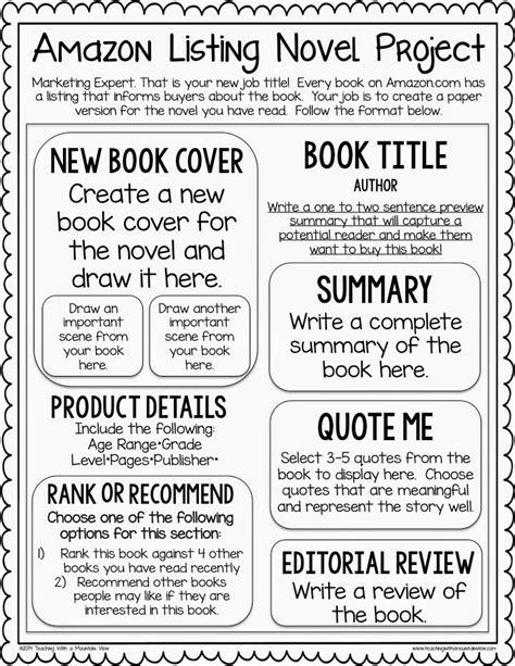 newspaper book report project book review template middle school pdf education world