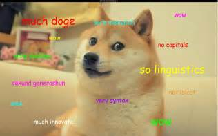 Douge Meme - much doge so linguistics wow i have written a grammar of