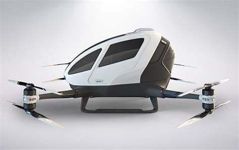 Drone Ehang 184 ehang 184 autonomous aerial vehicle aav for medium distance commute tuvie