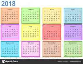Calendario Giorni Festivi Germania Calendario 2018 Ogni Mese Diversi Colorato Quadrato Ger