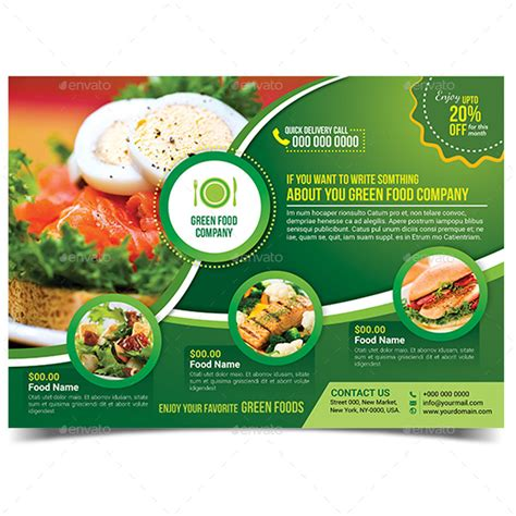 Green Food Flyer Template By Aam360 Graphicriver Food Flyers Templates