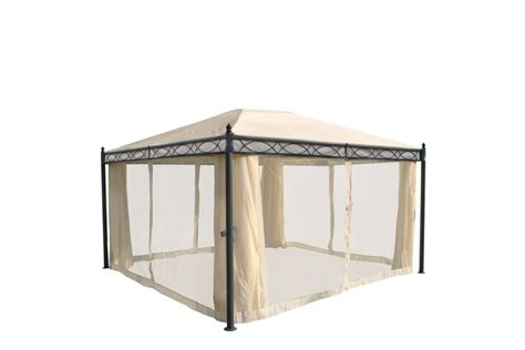 pavillon 4x3 meter havepavillon 4x3m beige pavillon med myggenet