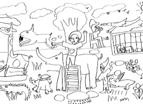 Asyiknya Menggambar Mewarnai Bunga catatan seni lukis anak oktober 2008