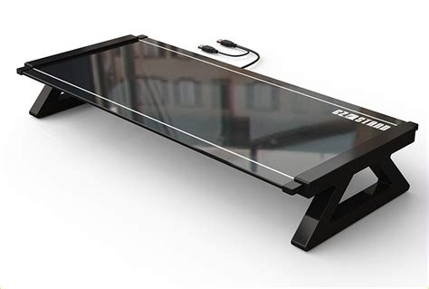 glass laptop desk tempered glass laptop desk with usb hub made in shenzhen