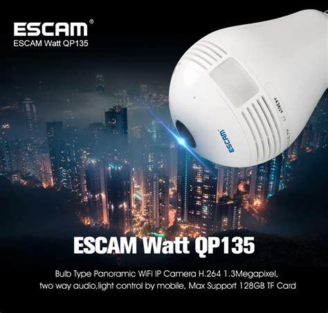 Bohlam Wireless Ip escam watt qp135 bulb wifi ip 960p white jakartanotebook