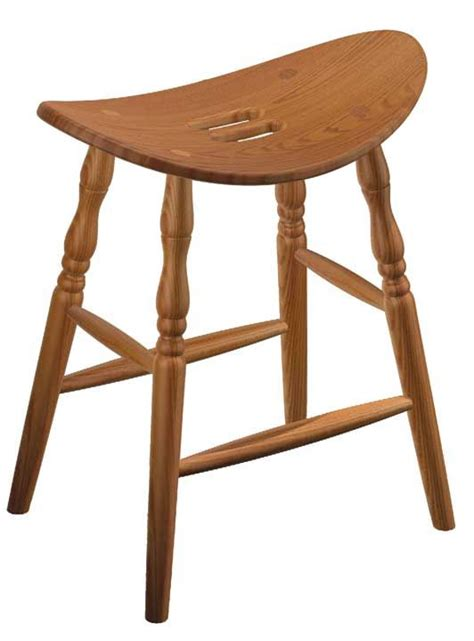 Amish Stools by Four Seasons Furnishings Amish Made Furniture Saddle Bar